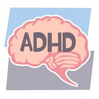 image of a brain with the text ADHD