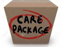 box image with the text care package